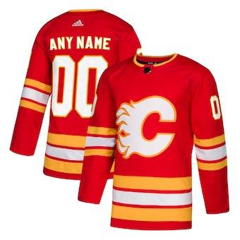 Men's Calgary Flames adidas Red Alternate Authentic Custom Jersey