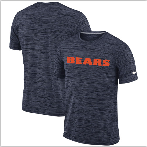 Men's Chicago Bears Nike Navy Velocity Performance T-Shirt