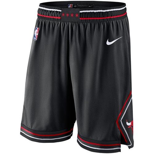Men's Chicago Bulls Nike Black Statement Swingman Basketball Shorts