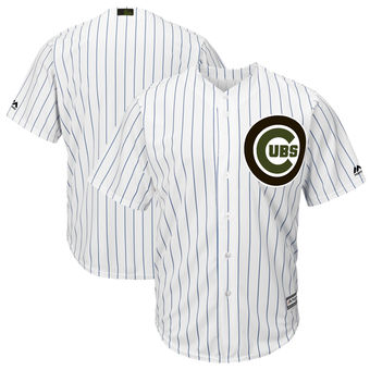 Men's Chicago Cubs Majestic White 2018 Memorial Day Cool Base Team Custom Jersey