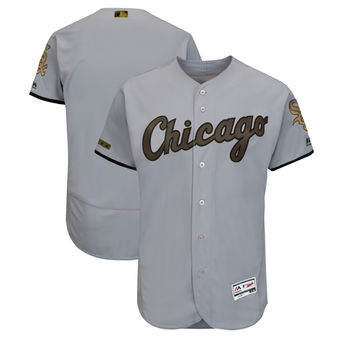 Men's Chicago White Sox Majestic Gray 2018 Memorial Day Authentic Collection Flex Base Team Custom Jersey