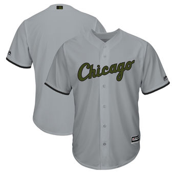 Men's Chicago White Sox Majestic Gray 2018 Memorial Day Cool Base Team Custom Jersey