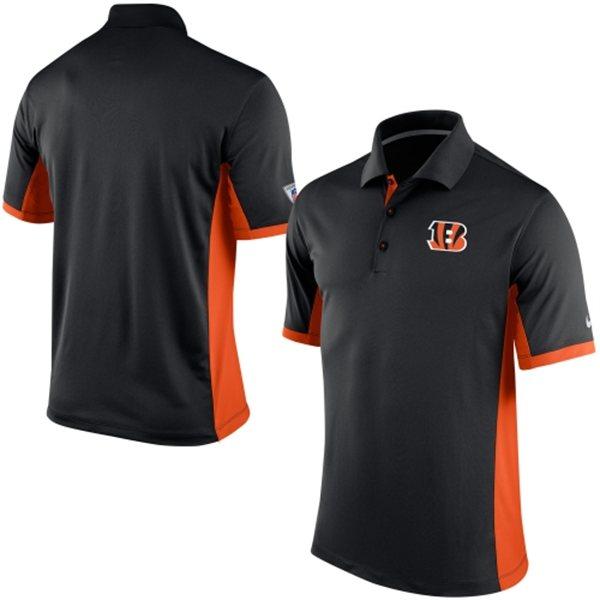 Men's Cincinnati Bengals Nike Black Team Issue Performance Polo