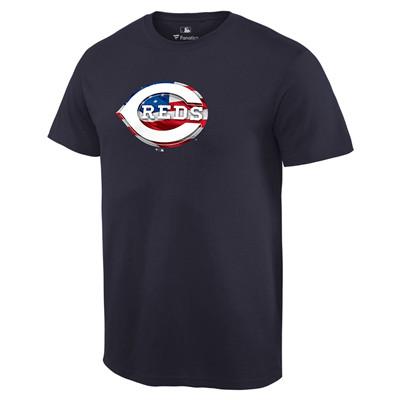 Men's Cincinnati Reds Navy Banner Wave T-Shirt