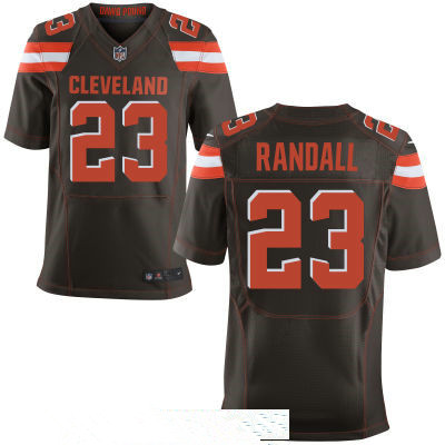 Men's Cleveland Browns #23 Damarious Randall Brown Team Color Stitched NFL Nike Elite Jersey
