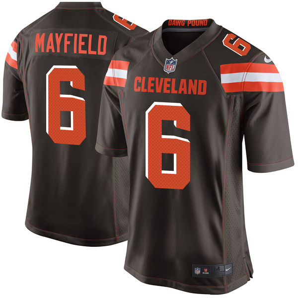 Men's Cleveland Browns Baker Mayfield Nike Brown 2018 NFL Draft Pick Limited Jersey
