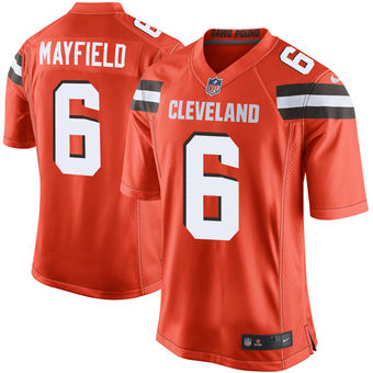 Men's Cleveland Browns Baker Mayfield Nike Orange 2018 NFL Draft Pick Limited Jersey