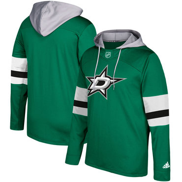 Men's Dallas Stars Adidas Green Silver Jersey Pullover Hoodie