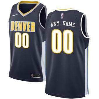 Men's Denver Nuggets Navy Custom Jersey