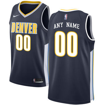 Men's Denver Nuggets Nike Navy Swingman Custom Icon Edition Jersey