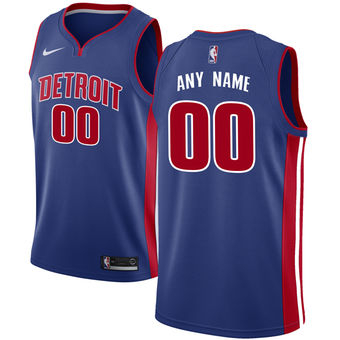 Men's Detroit Pistons Nike Blue Custom Jersey