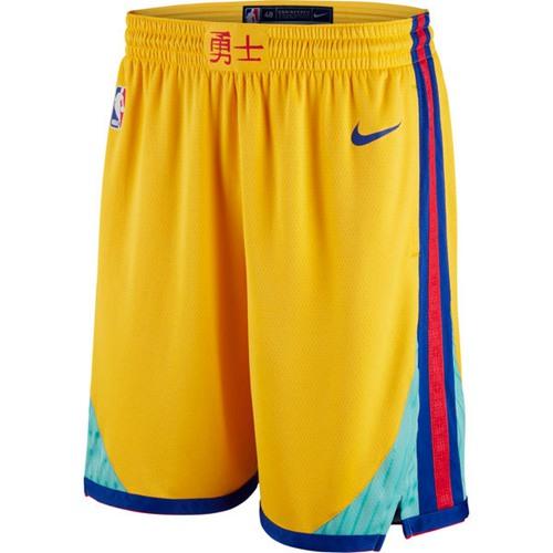 Men's Golden State Warriors Nike Gold City Edition Swingman Short