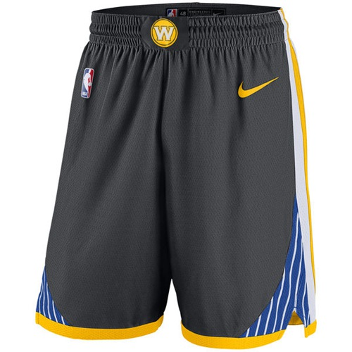 Men's Golden State Warriors Nike Gray Statement Swingman Basketball Shorts
