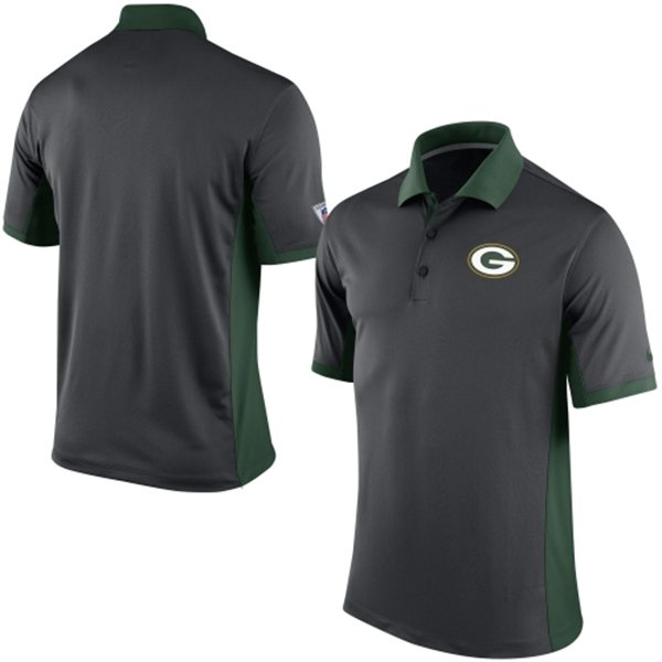 Men's Green Bay Packers Nike Charcoal Team Issue Performance Polo