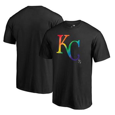 Men's Kansas City Royals Fanatics Branded Pride Black T-Shirt