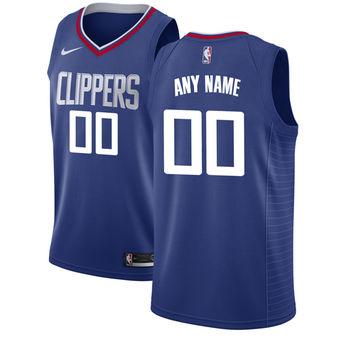 Men's LA Clippers Nike Blue Custom Jersey