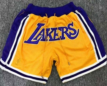 Men's Los Angeles Lakers Nike Yellow City Swingman Basketball Shorts