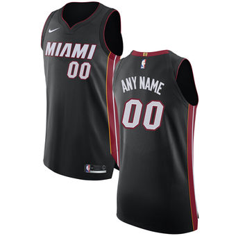 Men's Miami Heat Nike Black Custom Jersey