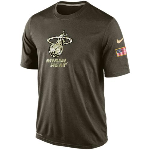 Men's Miami Heat Salute To Service Nike Dri-FIT T-Shirt