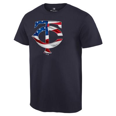 Men's Minnesota Twins Navy Banner Wave T-Shirt