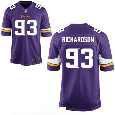 Men's Minnesota Vikings #93 Sheldon Richardson Purple Team Color Stitched NFL Nike Elite Jersey