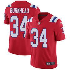 Men's New England Patriots #34 Rex Burkhead Red Vapor Limited Jersey