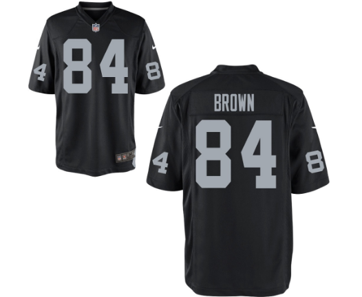 Men's New Okland Raiders #84 Antonio Brown Stitched Black Vapor limited Jersey