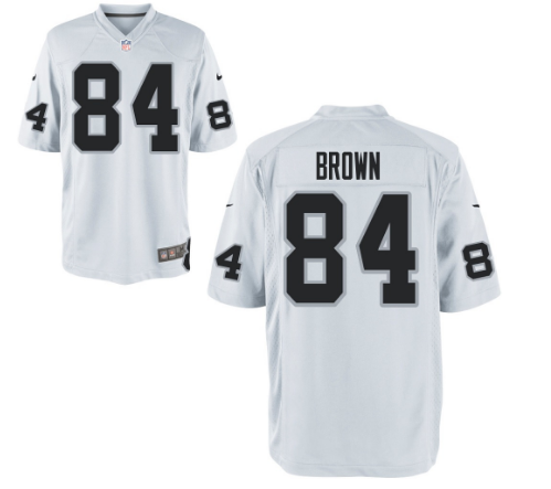 Men's New Okland Raiders #84 Antonio Brown Stitched White Vapor limited Jersey