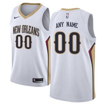 Men's New Orleans Pelicans Nike White Custom Jersey