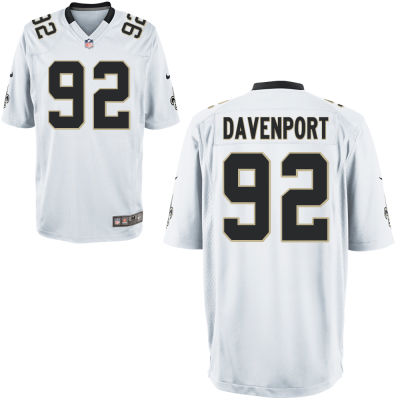 Men's New Orleans Saints Nike #92 Marcus Davenport White Elite Jersey