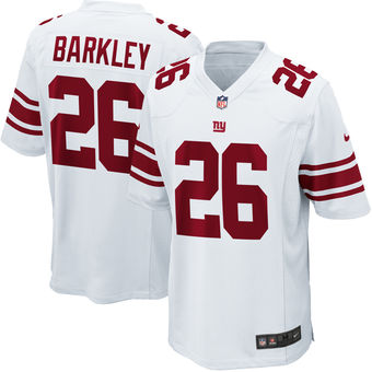 Men's New York Giants Saquon Barkley Nike White 2018 NFL Draft Pick Limited Jersey