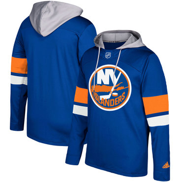 Men's New York Islanders Adidas Navy Silver Jersey Pullover Hoodie
