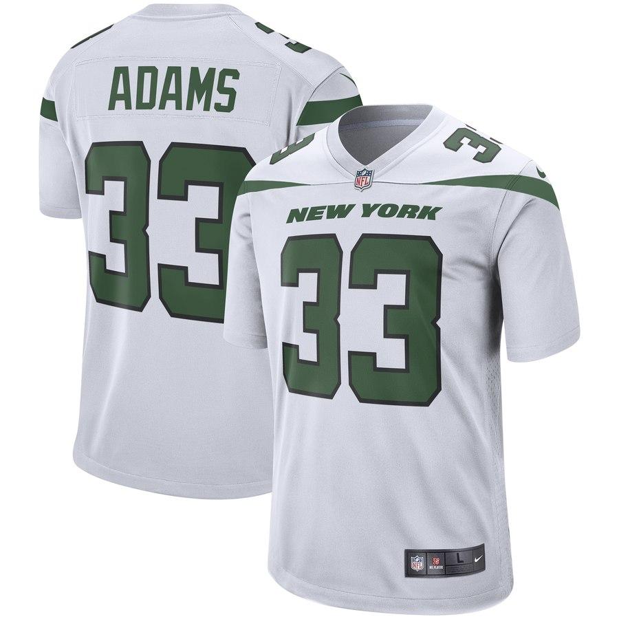 Men's New York Jets #33 Jamal Adams White Player Game Jersey