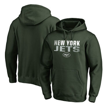 Men's New York Jets NFL Pro Line By Fanatics Branded Green Iconic Collection Fade Out Pullover Hoodie