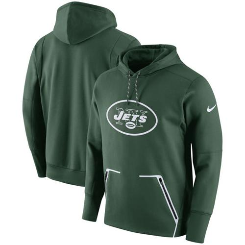 Men's New York Jets Nike Green Champ Drive Vapor Speed Pullover Hoodie
