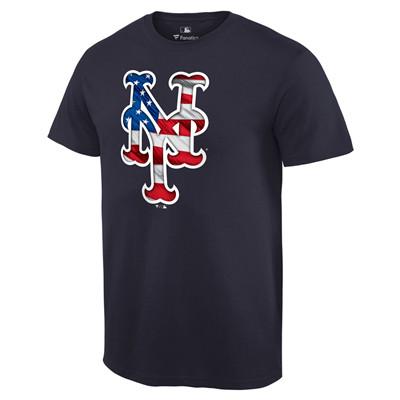 Men's New York Mets Navy Banner Wave T-Shirt