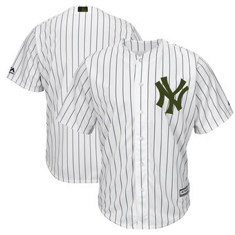 Men's New York Yankees Majestic White 2018 Memorial Day Cool Base Team Custom Jersey
