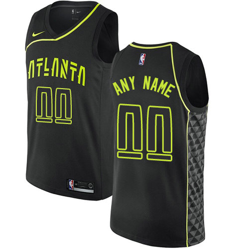 Men's Nike Atlanta Hawks Customized Authentic Black NBA City Edition Jersey