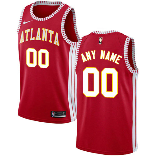 Men's Nike Atlanta Hawks Customized Authentic Red NBA Statement Edition Jersey