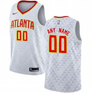 Men's Nike Atlanta Hawks Nike White Swingman Custom Icon Edition Jersey