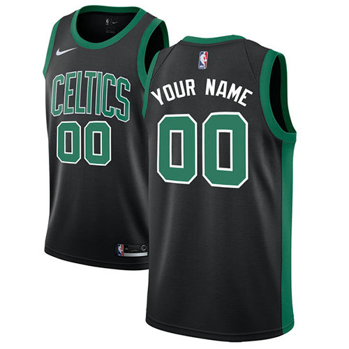 Men's Nike Boston Celtics Customized Authentic Black NBA Statement Edition Jersey