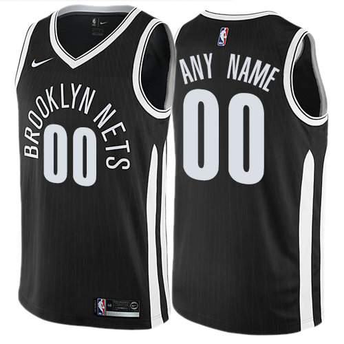 Men's Nike Brooklyn Nets Customized Authentic Black NBA City Edition Jersey