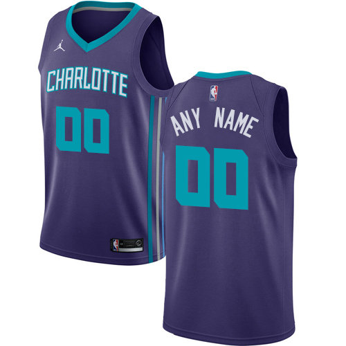 Men's Nike Charlotte Hornets Purple NBA Swingman Custom Jersey