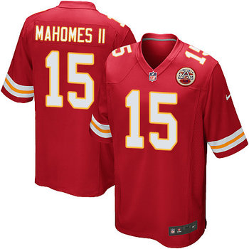 Men's Nike Chiefs #15 Patrick Mahomes II Red Team Color Stitched NFL Game Jersey