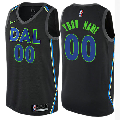 Men's Nike Dallas Mavericks Customized Authentic Black NBA City Edition Jersey