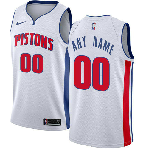 Men's Nike Detroit Pistons Customized Swingman White Home NBA Association Edition Jersey