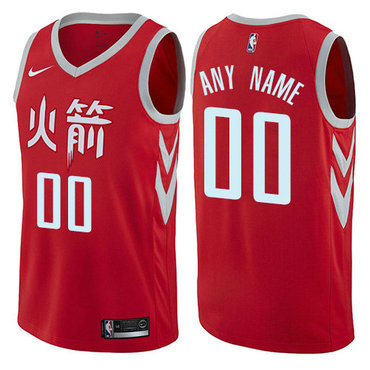 Men's Nike Houston Rockets Customized Authentic Red NBA City Edition Jersey