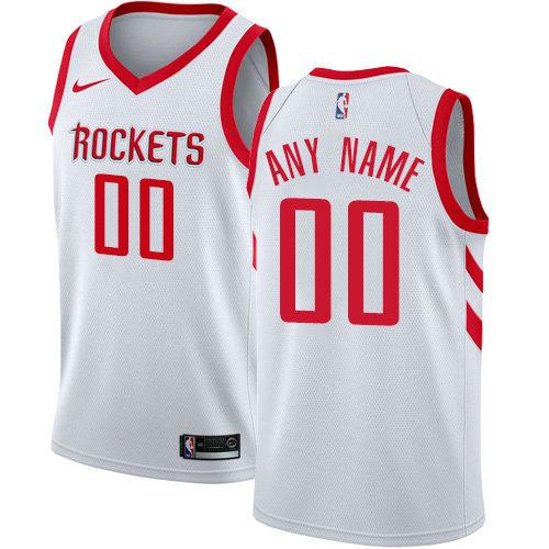 Men's Nike Houston Rockets Customized Swingman White Home NBA Association Edition Jersey