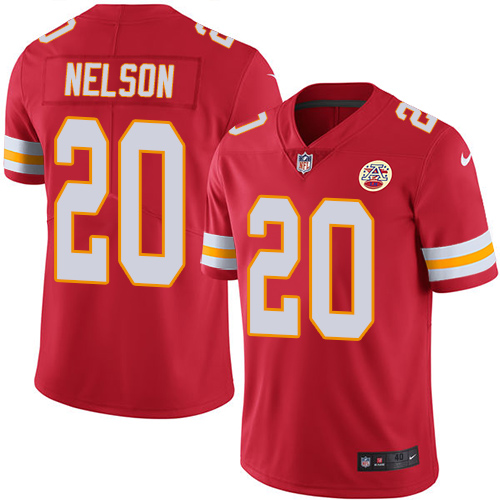 Men's Nike Kansas City Chiefs #20 Steven Nelson Red Team Color Vapor Untouchable Limited Jersey