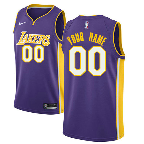 Men's Nike Los Angeles Lakers Customized Authentic Purple NBA Statement Edition Jersey